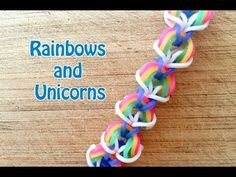 EASY Rainbow Loom Pattern: Rainbows and Unicorns No Loom - YouTube  Beginners rainbow loom hook only pattern.  great for learning how to use the hook for crocheting
