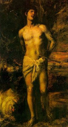 "Titian (Tiziano Vecellio) -- ""Saint Sebastian"" -- oil on canvas, 1570-72. The State Hermitage Museum, Saint Petersburg, Russia."