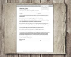 Photography Template Photography Contract Photography Forms