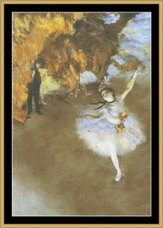 The Star - Degas [GM-69] - $16.00 : Mystic Stitch Inc, The fine art of counted cross stitch patterns