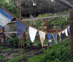 Rustic Wedding Banner Burlap Bunting Denim and Lace by Aprons2tie4