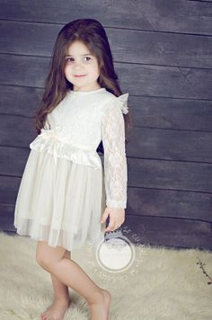 Long sleeve lace dress toddler