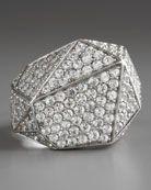 KARA by Kara Ross Pave Sapphire Geometric Ring, White
