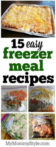 Make meal prep with these 15 favorite freezer meal recipes