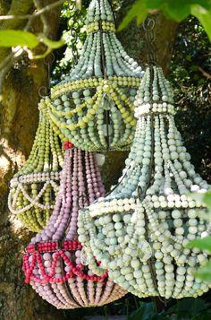 Hellooow Handmade Ceramic Bead chandeliers in sorbet colours!