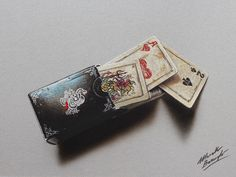 A set of playing cards - drawing by marcellobarenghi.deviantart.com on @deviantART