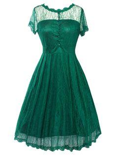 A Line Vintage Lace Dress