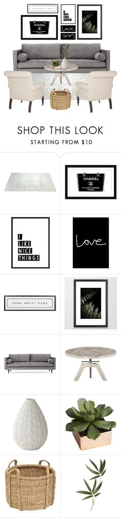 """""""Gallery Wall"""" by cherieaustin ❤ liked on Polyvore featuring interior, interiors, interior design, home, home decor, interior decorating, Marmont Hill, Native State, Vintage Playing Cards and Joybird"""