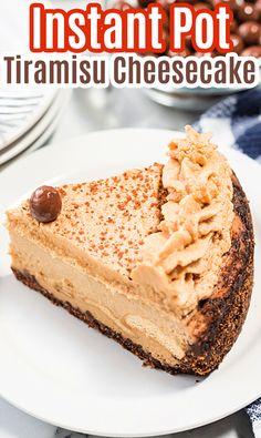 how to make instant pot tiramisu cheesecake at home via @mommakesdinner