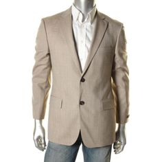 Hugo-Boss-NEW-Brown-Wool-Houndstooth-Two-Button-Blazer-Sportcoat-38R-BHFO