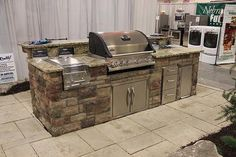 """Obtain wonderful suggestions on """"built in grill diy"""". They are actually offered for you on our website. Gas Barbecue Grill, Diy Grill, Clean Grill, Grilling, Outside Grill, Grill Island, Built In Grill, Hearth And Home, Home Landscaping"""