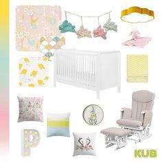 Spring nursery theme with pink, yellow and tiffany blue. KUB Nursery (@kubnursery) • Instagram photos and videos