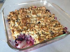 Paleo Berry Crumble-- healthy gluten free, dairy free