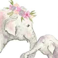 Elephant nursery print - watercolor Elephant- elephant printable - child elephant Illustration Children obtain Elephant Love, Elephant Art, Elephant Nursery, Baby Elephant Drawing, Elephant Drawings, Water Color Elephant, Elephant Illustration, Baby Animal Drawings, Illustration Kids