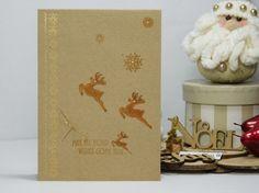 Reindeer Greetings - Handmade by Talida #reindeer #Christmas #kraft #recycled