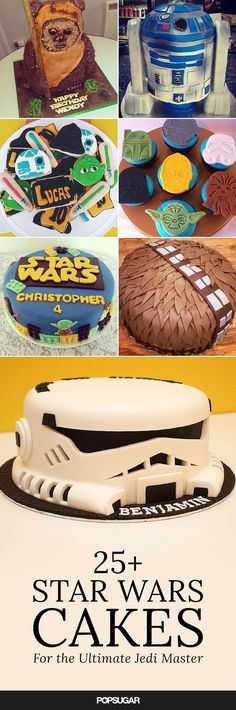 May the force with your birthday cakes. The most amazing birthday cakes for your kiddo's Star Wars birthday party.