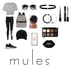 """""""Mules"""" by queen-mallorie ❤ liked on Polyvore featuring T By Alexander Wang, NIKE, Henri Bendel, rag & bone, Ace, Missguided, Amanda Rose Collection, Lokai, Christian Louboutin and Christian Dior"""