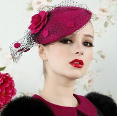 Aliexpress.com : Buy Luxury Women Fuchsia Wool Wedding Accessories Bridal Hats from Reliable bridal hat suppliers on HONEYSTORE CO., LIMITED $69.99