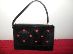 Black Leather pouch leather wallet small purse by victoriaspurse, $50.00