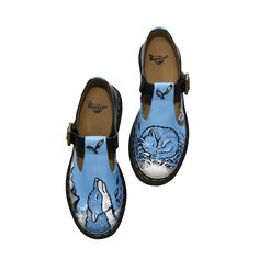 Lorna's illustrated Polley shoes