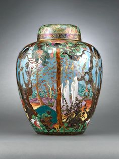 Decorative Arts and Furniture | Wedgwood Fairyland Lustre Ghostly Wood - The Curator's Eye