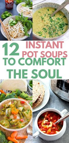 INSTANT POT SOUPS are sooo easy now with the instant pot lux or duo. Make healthy recipes with lots of veggies! Instant Pot Pressure Cooker, Pressure Cooker Recipes, Slow Cooker, Baby Food Recipes, Soup Recipes, Food Baby, Lunch Recipes, Crockpot Recipes, Recipies