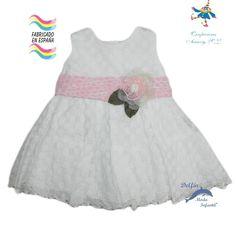 Vestido de bebe ceremonia PIZPIRETA tejido calado