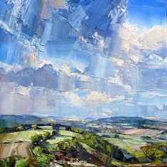 Great new work by Jonathan Pocock, called Butser Hill. Our next opening is this weekend, do come by and have a look! #contemporaryart #landscape