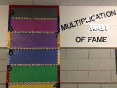 Our spin of a Multiplication Wall for third grade