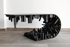 This Matte Black, Inception-Inspired Coffee Table Is Absolutely Gorgeous…