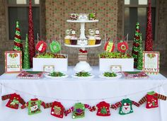 Ugly Sweater Party - Fun Tacky Sweater Christmas Party With Printables - Gifts and Costume Ideas for 2020 , Christmas Celebration Tacky Christmas Party, Christmas Party Table, Christmas Party Decorations, Xmas Party, Party Fun, Christmas Tablescapes, Christmas Ideas, Scandi Christmas, Christmas Outfits