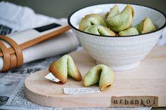 green tea fortune cookies