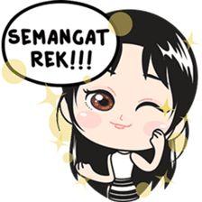 Fany adalah nonik dari Surabaya. Stiker ini perfect banget untuk chatting sehari2! Funny Face Drawings, Funny Faces, Line Sticker, Surabaya, Emoticon, Funny Stickers, Jokes, Lol, Cartoon