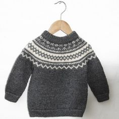 Vintage Classic - Noah Opskrifter Go Ha - Diy Crafts - Marecipe Fair Isle Knitting Patterns, Fair Isle Pattern, Sweater Knitting Patterns, Knitting Designs, Sewing Baby Clothes, Knitted Baby Clothes, Baby & Toddler Clothing, Diy Crafts Knitting, Knitting For Kids