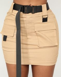 Heavy Cargo Mini Skirt – Camel, You can collect images you discovered organize them, add your own ideas to your collections and share with other people. Cute Casual Outfits, Pretty Outfits, Stylish Outfits, Tan Skirt Outfits, Moda Outfits, Swag Outfits, Girly Outfits, Grunge Outfits, Flowy Summer Dresses