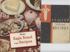 Two Vintage Cookbooks 1940s  Eagle Brand and by annswhimsey, $7.50