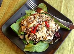 Curried Quinoa Salad with Artichokes and Pimento: Curried Quinoa & Artichoke Salad - Ensalada de Quinoa al Curry