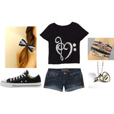 """music outfit"" by missbri2000 on Polyvore"