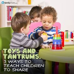 Toys and tantrums: 3 ways to teach children to share from FamilyShare.com