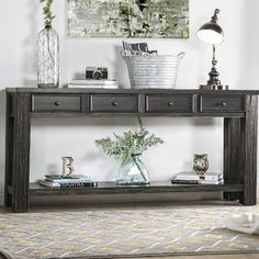 Shop a great selection of Janousek 64 Solid Wood Console Table Alcott Hill. Find new offer and Similar products for Janousek 64 Solid Wood Console Table Alcott Hill. Sofa Table Decor, Sofa Tables, End Tables, Table Decorations, Occasional Tables, Couch Table, Coffee Tables, Entryway Decor, Entryway Tables