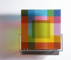"""""""Can-Can: Chartreuse"""" by Dorothy Hafner, fused glass"""