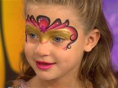 DIY VIDEO face-painting on the TODAY show. Note how there are  multiple colors on the sponge to achieve the airbrush effect. Pat the color until you receive the desired color.