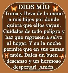 Frases Mom Quotes, Quotes About God, Faith Quotes, Bible Quotes, Spanish Prayers, God Prayer, Catholic Prayers, Morning Prayers, Prayer Board