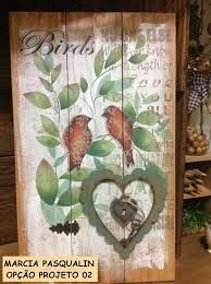 Resultado de imagem para marcia pasqualin Stencil Painting, Painting Frames, Painting On Wood, Arte Pallet, Vintage Decor, Retro Vintage, Reclaimed Wood Furniture, Wood Crafts, Folk Art