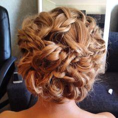 Hair: Kim Ikonen Jennings, Stockholm, Sweden https://www.facebook.com/kimikonenmakeupartist www.instagram.com/kimikonencreatives bridal hair, braided updo, braided beauty, natural curly updo, beauty, Sweden