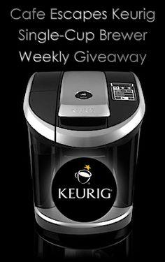 Keurig Single-Cup Brewer Weekly Giveaway