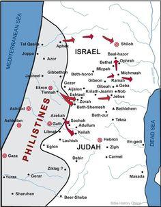 biblical times   Palestine in Biblical Times Map   Mundo biblico ...