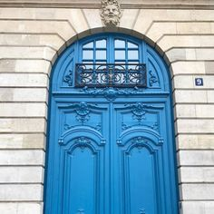 One of the beloved details of Paris, its doors. Love that French blue, here on the Place Vendôme.