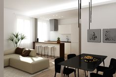 Apartment renovation in Florence, render for various project ideas Apartment Renovation, Living Area, House Design, Furniture, Home Furnishings, Architecture Illustrations, House Plans, Home Design, Arredamento