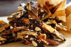 Chocolate bark recipe, Herald on Sunday – This ridiculously simple recipe sounds weird but works - Eat Well (formerly Bite) Chocolate Bark, Chocolate Chips, Cream Crackers, Bark Recipe, Sliced Almonds, Christmas Cooking, High Tea, Finger Foods, Brown Sugar